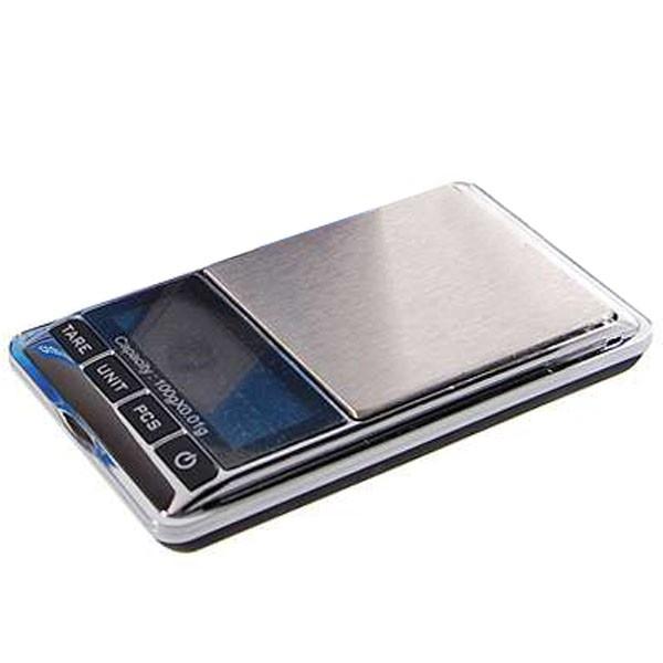 Mini přesná digitální kapesní váha do 100g přesnost 0,01g