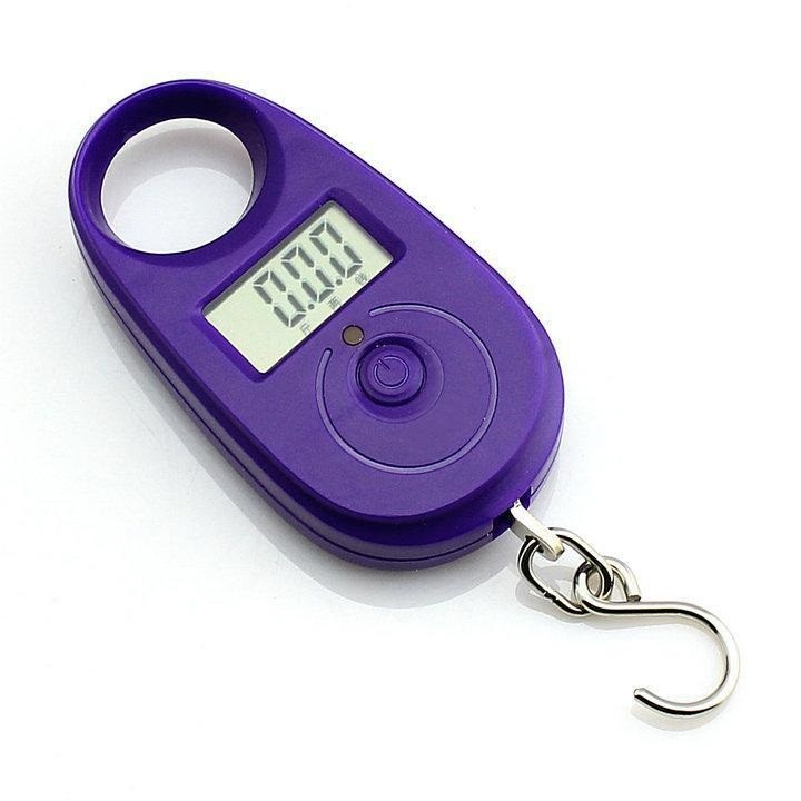 Závěsná váha do 25kg přesnost 5g - fialová