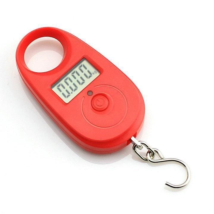 Závěsná váha do 25kg přesnost 5g - červená