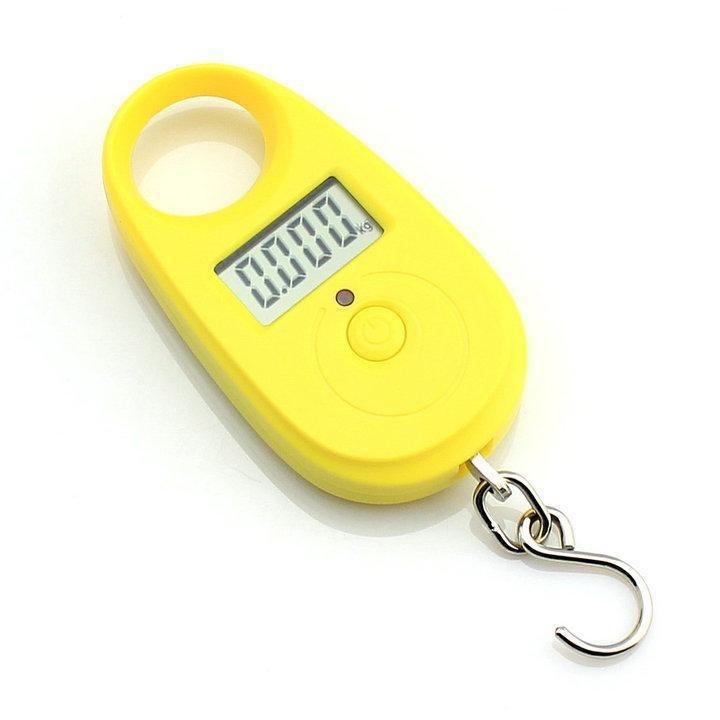 Závěsná váha do 25kg přesnost 5g - žlutá