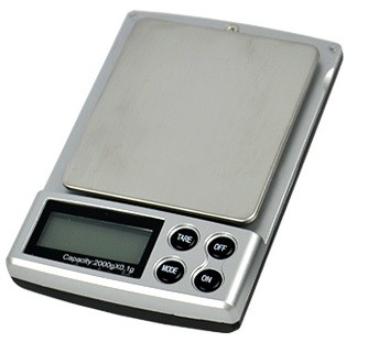 Digitální kapesní váha do 2kg s přesností 0,1g