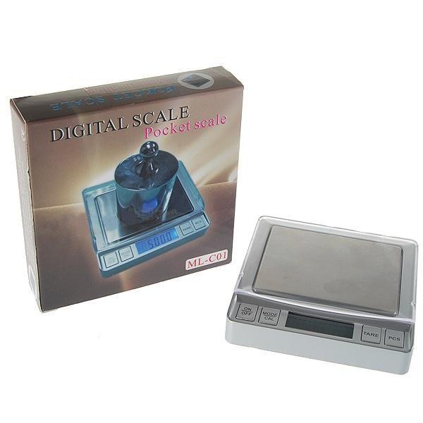 Kapesní digitální váha s podsvíceným LCD do 500g přesnost 0,1g