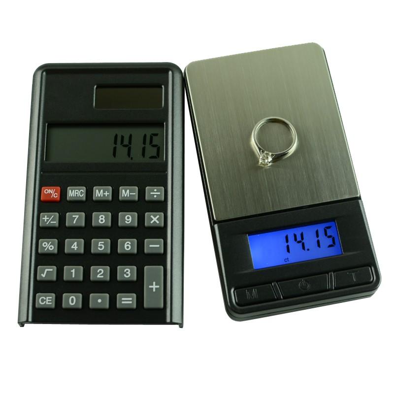Kalkulačka a digitální váha do 200g / 0,01 g