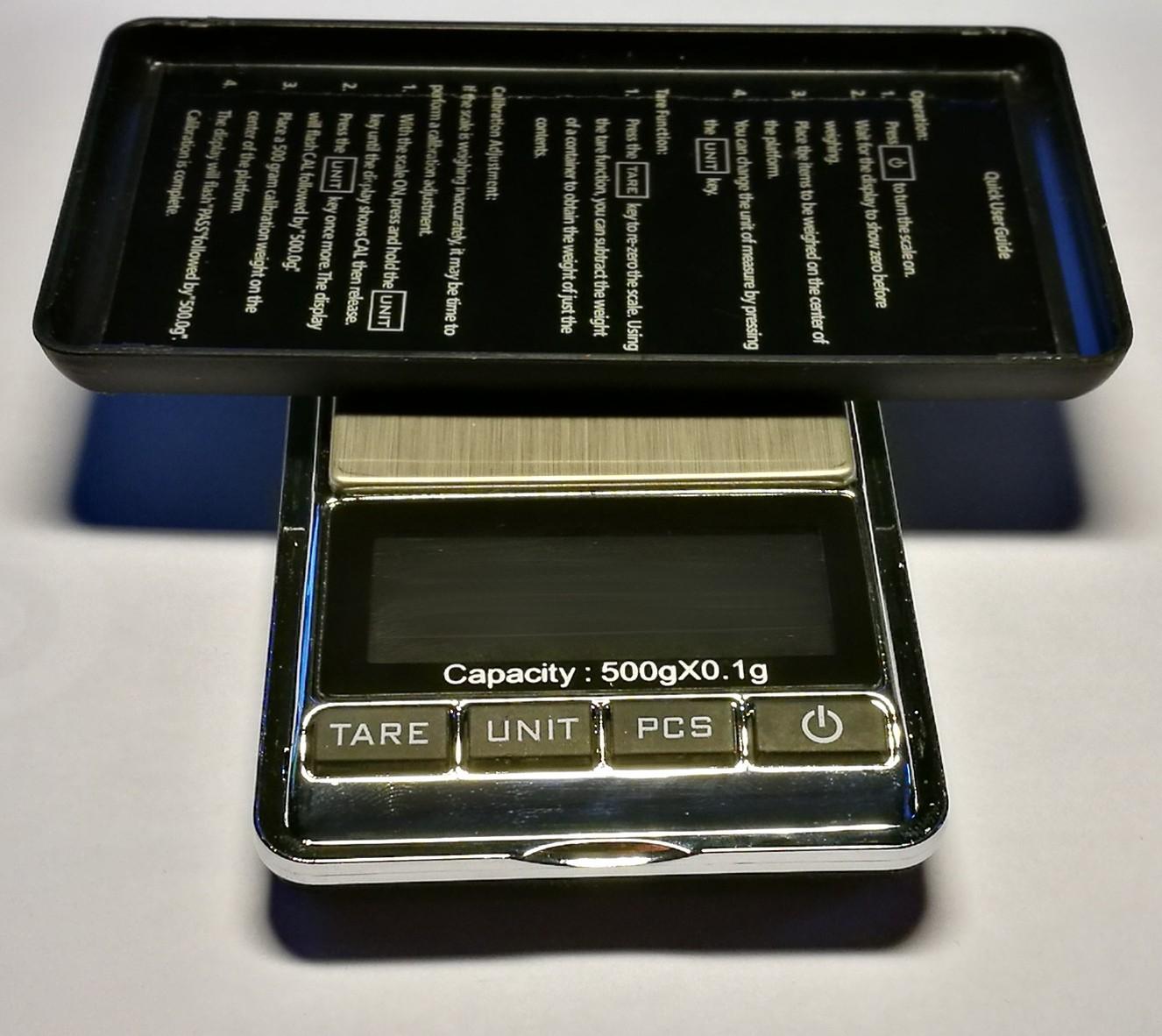 KL-117 Mini přesná digitální kapesní váha do 500g / 0,1g